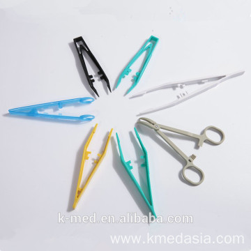 Plastic surgical locking tweezers medical plastic forceps